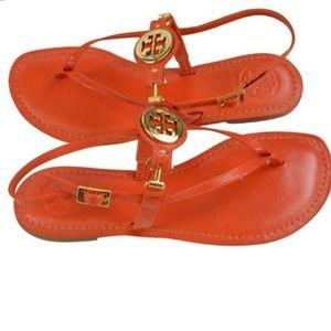 Tory Burch Ali Thong Orange Sandals Size 6.5